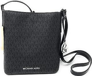 Michael Kors Kimberly Signature PVC Small Bucket Crossbody Bag