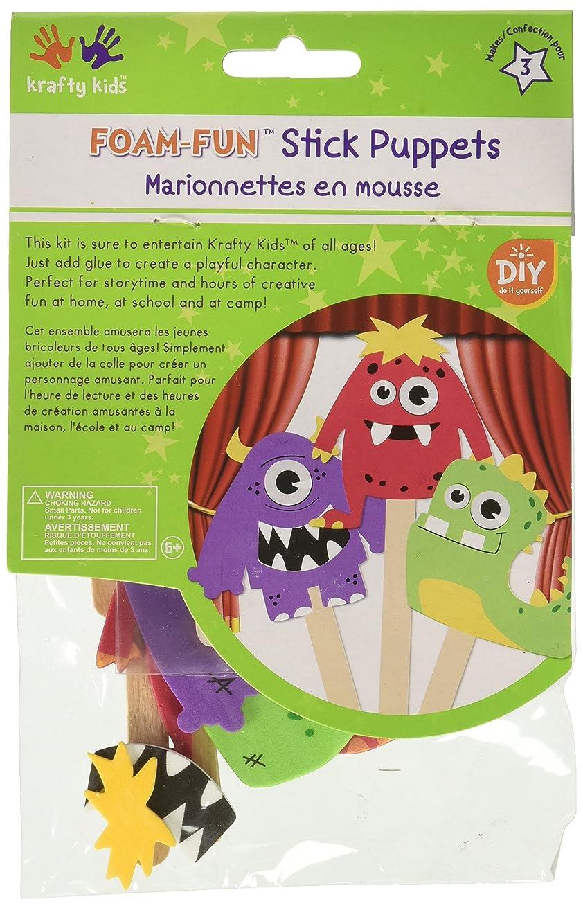 Multicraft Krafty Kids DIY Stick Foam Puppets Monster Pals