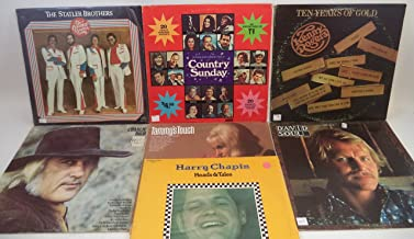 Country Artists of the 1970s Lot of 7 Vinyl Record Albums Charlie Rich, Kenny Rogers and more