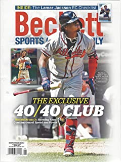 NEWEST GUIDE: Beckett Sports Card Monthly Price Guide (October 3, 2019 release/R. Acuna Jr. cover) ***Pricing for BB begins 2016, 17/18 for BK & HK and 2018 for FB