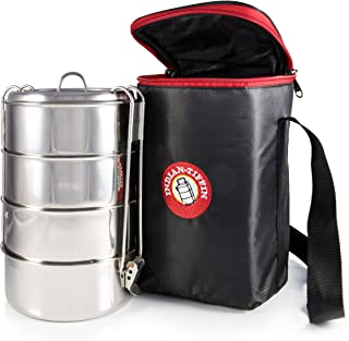 4-Tier Insulated Tiffin with Thermally Insulated Bag