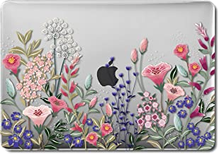 GMYLE MacBook Air 13 Inch Case A1466 A1369 Old Version 2010 2017, Hard Shell Plastic Clear Crystal Glossy Snap On Cover (Plum Floral Garden)