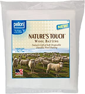 Pellon W-60 Throw Size Wool Batting, 60