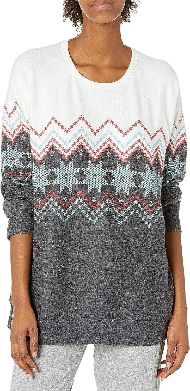 depot PJ Salvage Women's Loungewear Festive Top Sleeve Long Fairisle New York Mall
