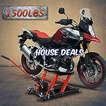 House Deals Motorcycle ATV Jack Lift Stand Quad Dirt Street Bike Hoist 1500 Lbs Garage Store Accessories