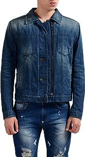 Marc Jacobs Denim Men's Lined Button Up Zip Up Jacket US S IT 48