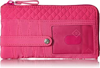 Vera Bradley Women's Protection Microfiber RFID Ultimate Card Case Wallet, Classic Black, One Size