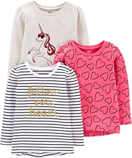 Simple Joys by Carter's Toddler Girls' 3-Pack Graphic...