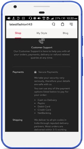 LATEST FASHION-143 Online Shopping Store (LF143)