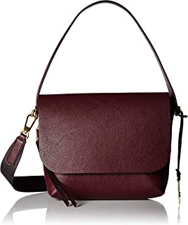 Fossil Maya Leather 27.94 cms Red Messenger Bag (ZB7617)