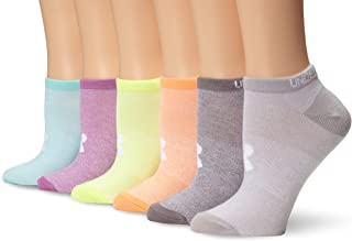 Under Armour womens Essential No Show Socks, 6-pairs