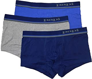 papi 3 Pack Underwear Boxer Brazilian Trunk Mens - 527