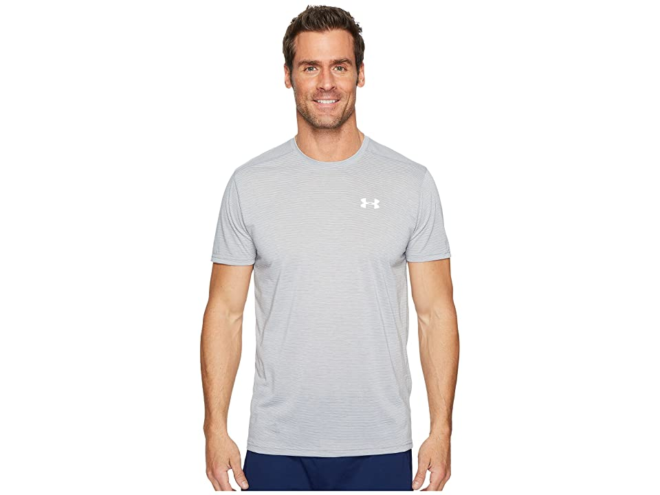 Under Armour UA Streaker Short-sleeve Tee (Steel Light Heather/Steel Light Heather/Reflective) Men's Workout, Gray
