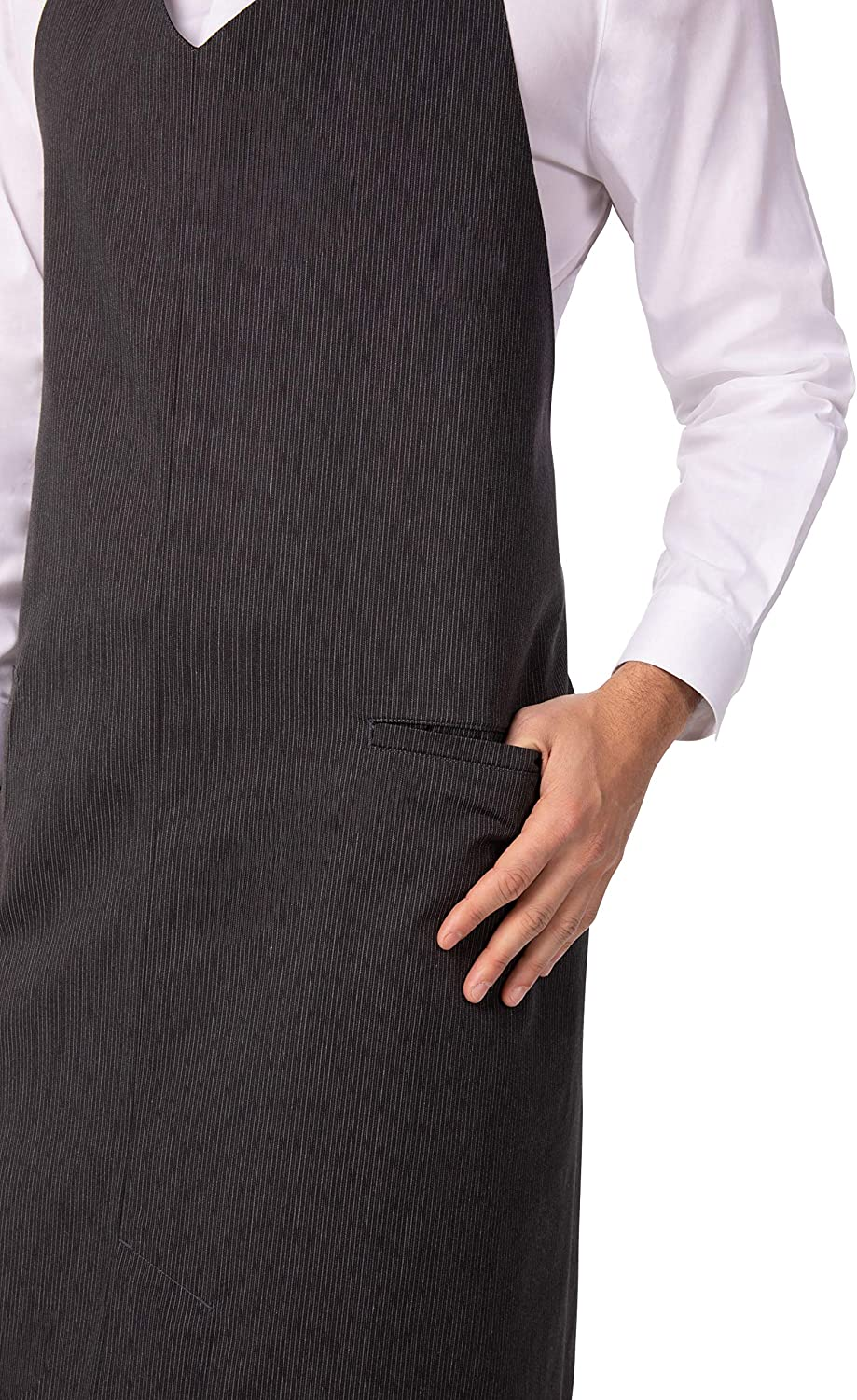 Chef Works mens Volante V-neck Bib Apron