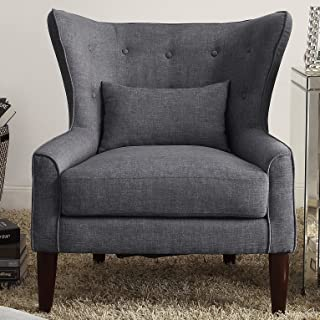 Rosevera Liviana Tufted Wingback Chair with Back Cushion, Multiple Colors