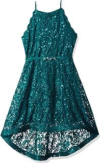 Girls' Big Sequin Lace Maxi Dress