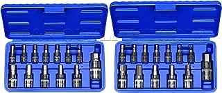 J&R QUALITY TOOLS 26pc METIRC & SAE Allen Hex Socket Bit Set Wrench Ratchet 1/4