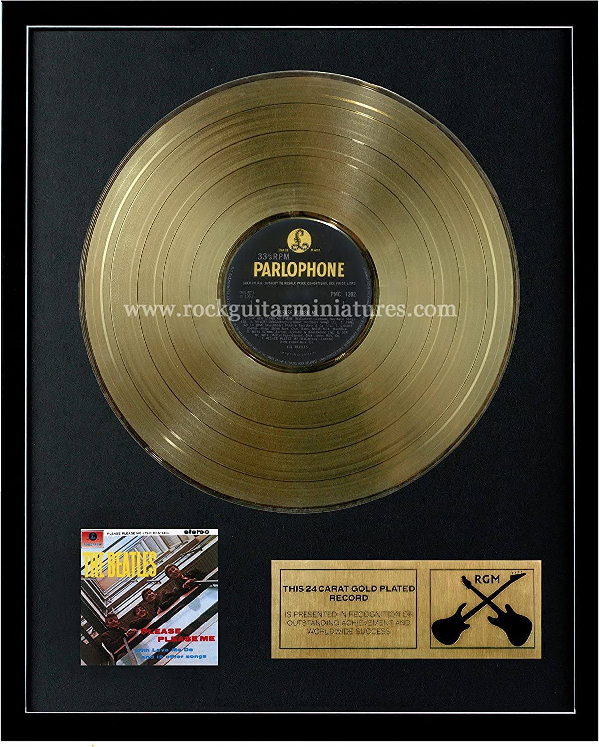 RGM1015 The Beatles Please Please Me gold Plated LP 12