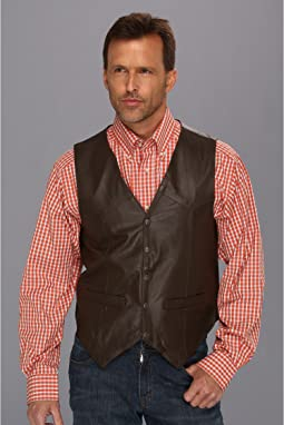 Lamb Leather Snap Front Vest