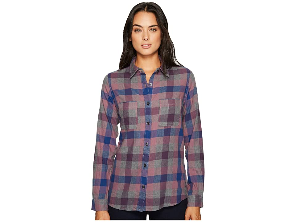 The North Face Long Sleeve Trail Ready Shirt (Estate Blue Plaid) Women