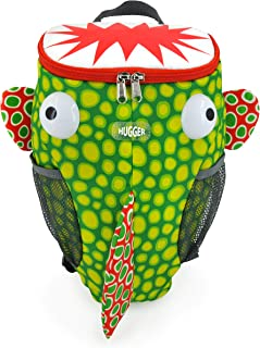 Hugger Little Monster little kids and Toddler Backpack with Anti-lost Harness Strap (Monster Fish)