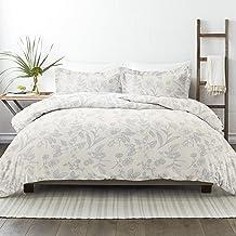 طقم ملاءات سرير من 3 قطع من Simply Soft Premium Garden Pattern 3 قطع، توأم/مفرد بطول إضافي ، أزرق فاتح