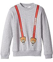 Moschino Kids - Teddy Bear Logo Suspender Sweat Top (Infant/Toddler)