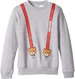 Moschino Kids - Teddy Bear Logo Suspender Sweat Top (Infant/Toddler)