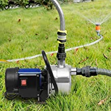 1.6HP Shallow Well Sump Pump Stainless Booster Pump Lawn Water Pump Electric Water..