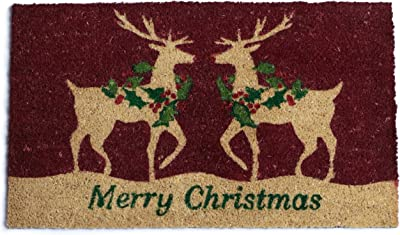 DII Merry Christmas Reindeer Holiday Doormat