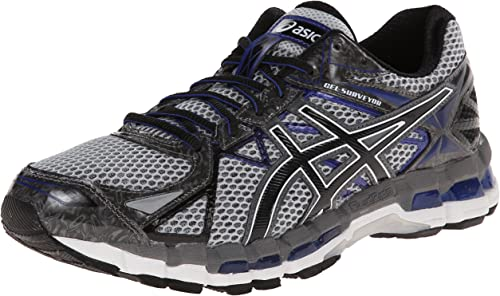 ASICS Men's Gel-Surveyor 3 Running zapatos,Stone negro azul,9.5 M US