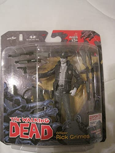 McFarlane Toys The Walking Dead COMIC Series 1 Exclusive Action Figure Officer Rick Größes schwarz Weiß Variant by Unknown