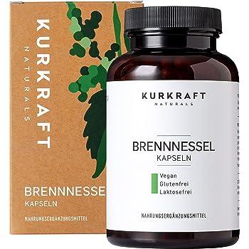 Kurkraft Brennnessel (180 vegane Kapseln) - 10:1 echter Brennnessel-Extrakt - 900mg hochdosiert je Tagesdosis - ohne Zusatzstoffe - hochdosiert - sorgfältig herstellt in Deutschland