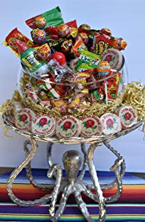 Mexican Candy 70 Packs Assorted Mix, Hot Spicy, Sweet, Salty, Sour, Chupa Chups Lollipop Rockaletas, Pulparindo , Vero Mango, Vero Rebanaditas, Pelon Pelonazo, Limon 7, Lucas, Salsaghetti, Marzipan
