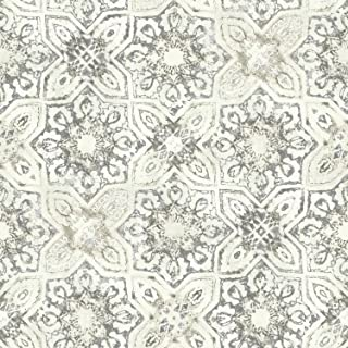 York Wallcoverings Patina Vie Fatima Tiles Removable Wallpaper, Beiges
