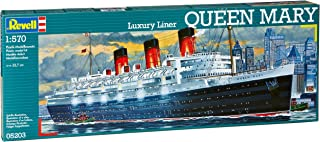 Revell 1:570 Queen Mary Luxury Liner Ship Model Kit Set (05203)
