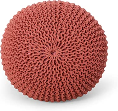 Christopher Knight Home Nahunta Pouf, Coral