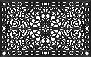 "Calloway Mills AZ900223048 Gatsby Rubber Doormat, 30"" x 48"", Black"