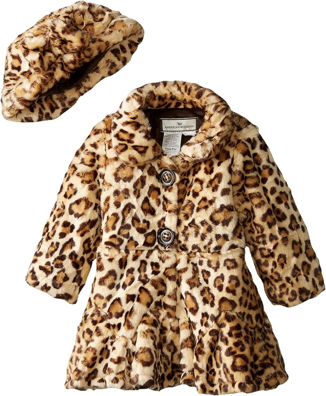 Widgeon Big Girls' Twirly Bottom Coat with Hat, Amur Leopard, Size 7