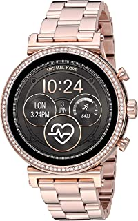 Michael Kors Women's Quartz Wrist Watch smart Display and Stainless Steel Strap, MKT5063