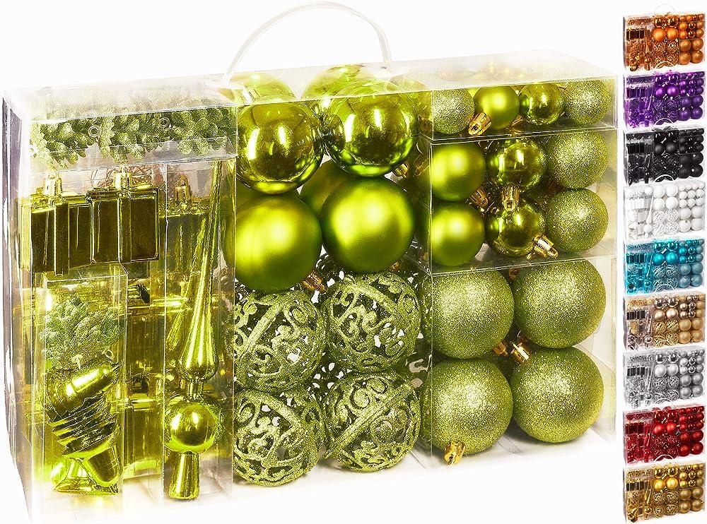 Brubaker set di 101 accessori decorativi per l`albero di natale Brubaker