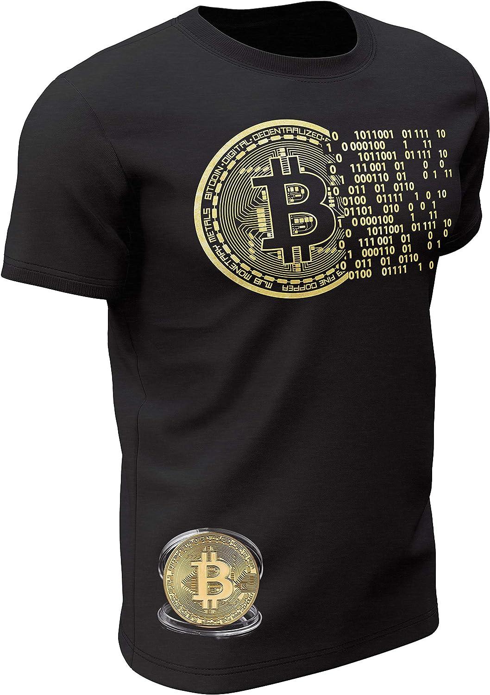 Fashion :: Crypto Merchandise :: T-Shirts :: White Bitcoin T-Shirt