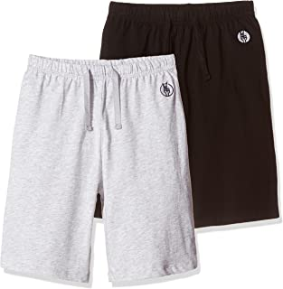 Kid Nation Kids Unisex 100% Cotton Casual Pull On Shorts for Boys and Girls 4-12 Years