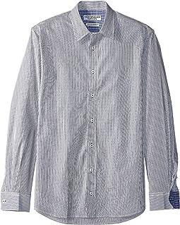 51c9a26e 7. Nick Graham. Pencil Stripe Contrast CVC Stretch Dress Shirt ...