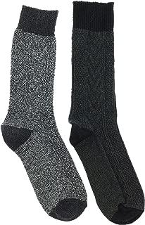Men's 36% Wool Boot Socks (2Pr), One Size,
