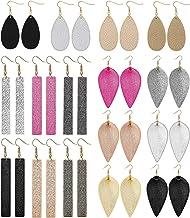 Yadoca Leather Earrings For Women Leaf Earring Teardrop Petal Antique Dangle Earring Sets Lightweight Handmade Birthday/Valentine's Day/Mother's Day Gift