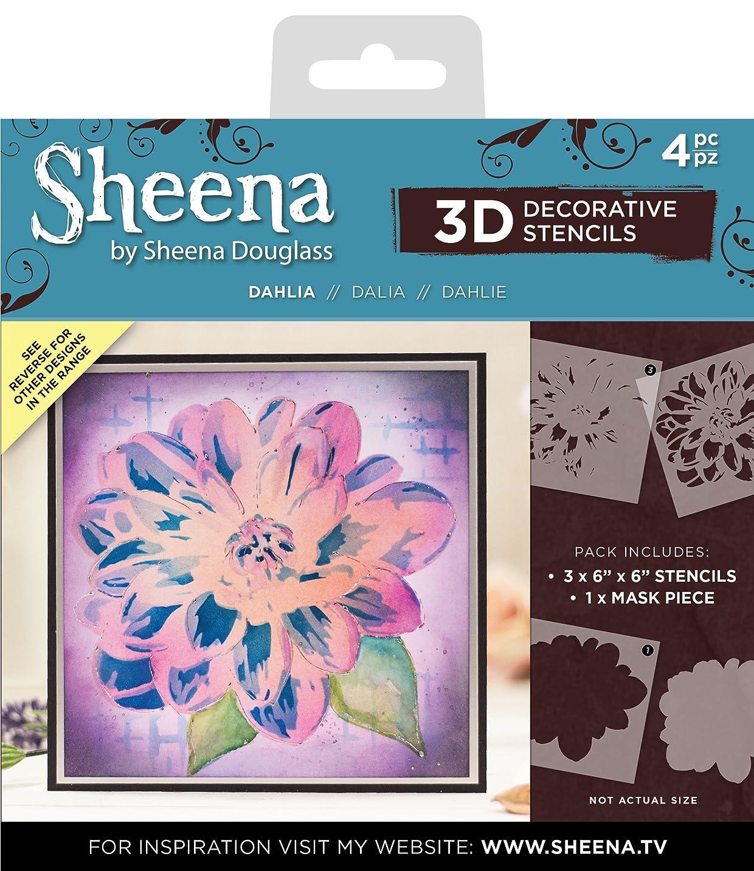 Sheena SD-STEN-3D-DAH Decorative Dahlia.Includes Three 6