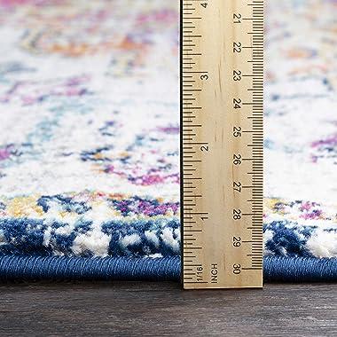 "Artistic Weavers Odelia Updated Traditional Rug Orange/Navy 5'3"" x 7'3"