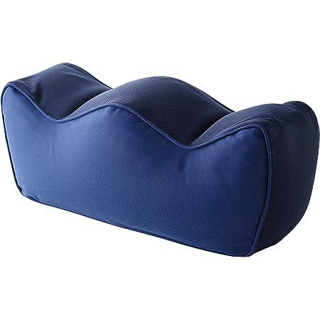アーネスト 足枕 (フットレスト/足置き/膝枕) カバー洗濯可能 むくみ 疲れ解消 (洗える足楽まくら) ブルー A-77383