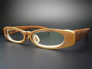 竹製めがねフレーム KA-902F(DOKUSOU TIKUHOU)【鯖江】【木のめがね】【竹めがね】【花梨】【銘木】【瘤】【Wood】【Hand made】【限定】